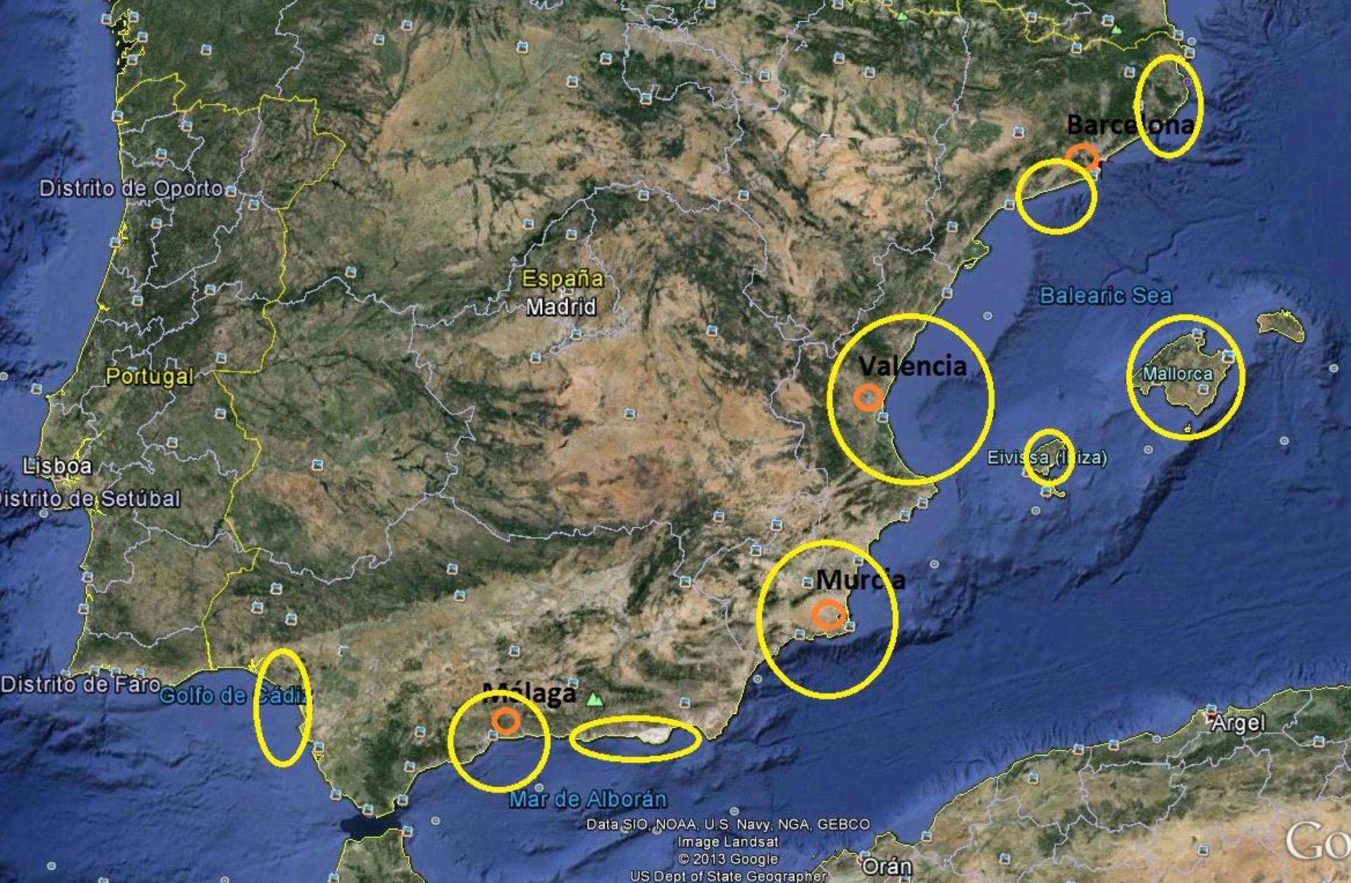 Copertura dei nostri voli in Spagna